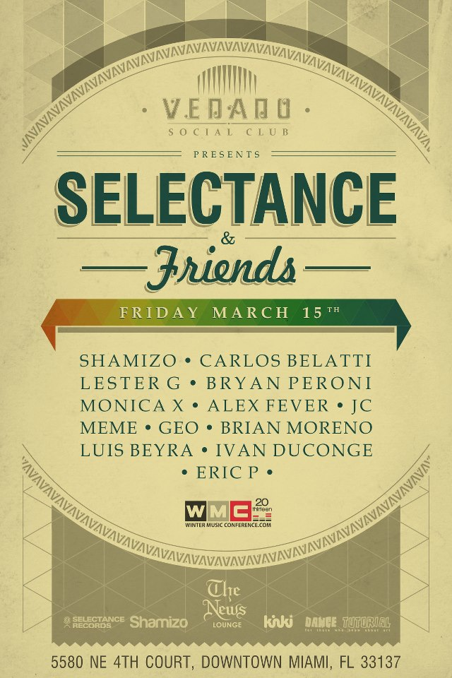 WMC MARCH 15th SELECTANCE and FRIENDS
