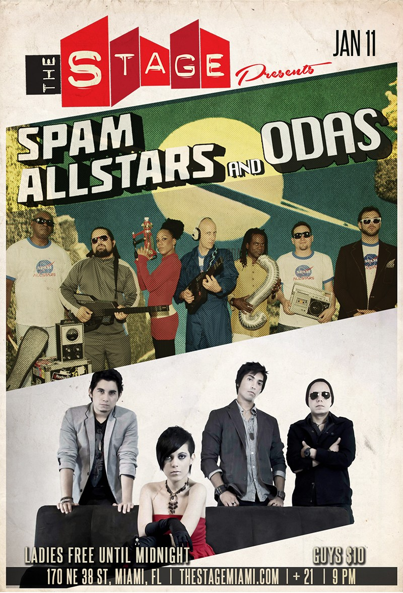 Spam Allstars – ODAS and DJ Luis Beyra @ The Stage SAT. 11th