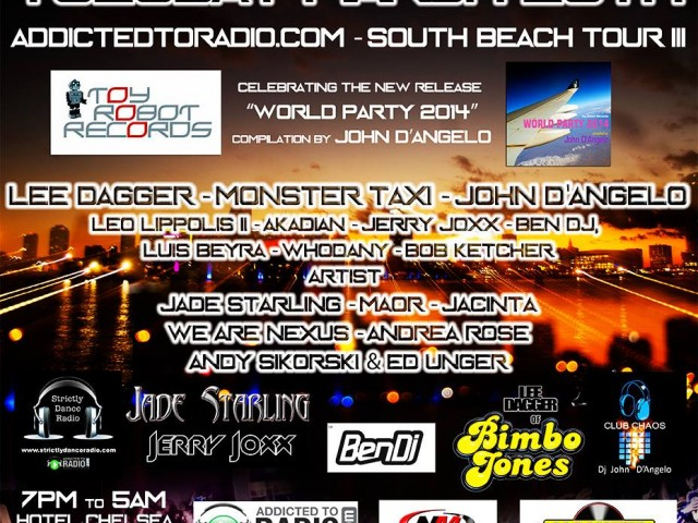 Tuesday March 25th – Luis Beyra @ AddictedToRadio.com – South Beach Tour III WMC 2014